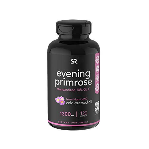 Evening Primrose Oil (1300mg) 120 Liquid Softgels ~ Cold-Pressed with No fillers or Artificial...